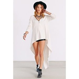 Truly Madly Deeply extreme high/low henley top